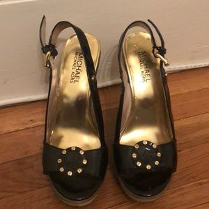 Patent leather Michael Kors wedges